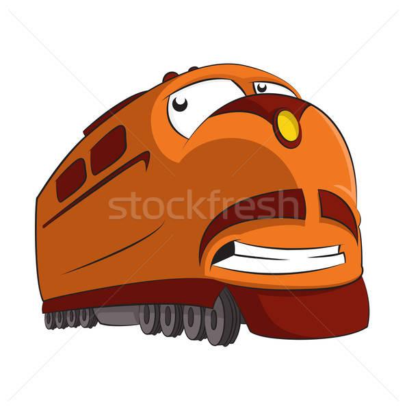 漫画 列車 ベクトル 画像 面白い 笑みを浮かべて ストックフォト © Amplion