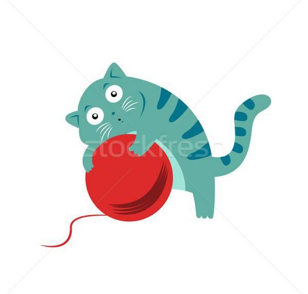 猫 動物 漫画 ゲーム 幸福 ペット ストックフォト © Amplion