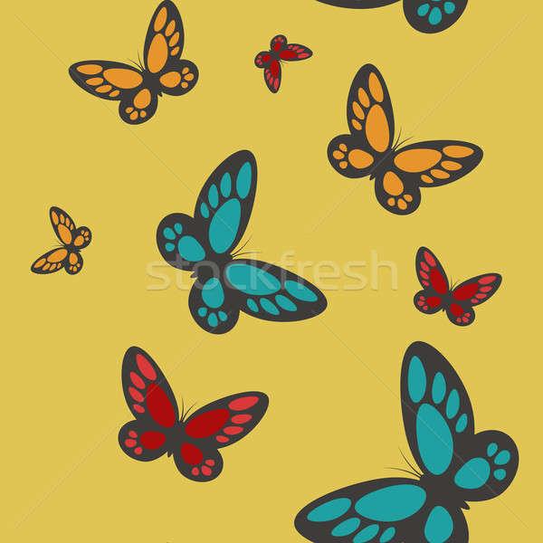 бабочки вектора изображение компьютер весны Сток-фото © Amplion