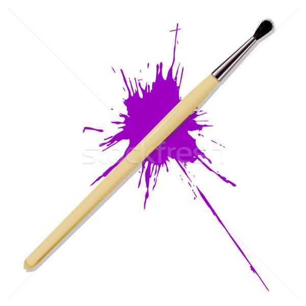 реалистичный щетка вектора изображение Purple место Сток-фото © Amplion