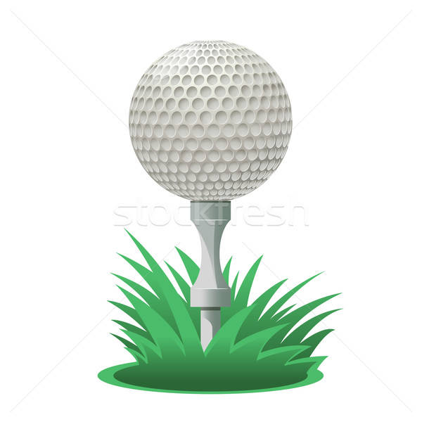 ゴルフボール ベクトル 画像 漫画 草 ゴルフ ストックフォト © Amplion