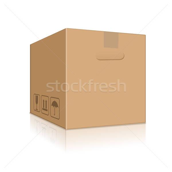 ブラウン ボックス ベクトル 画像 カートン ストックフォト © Amplion