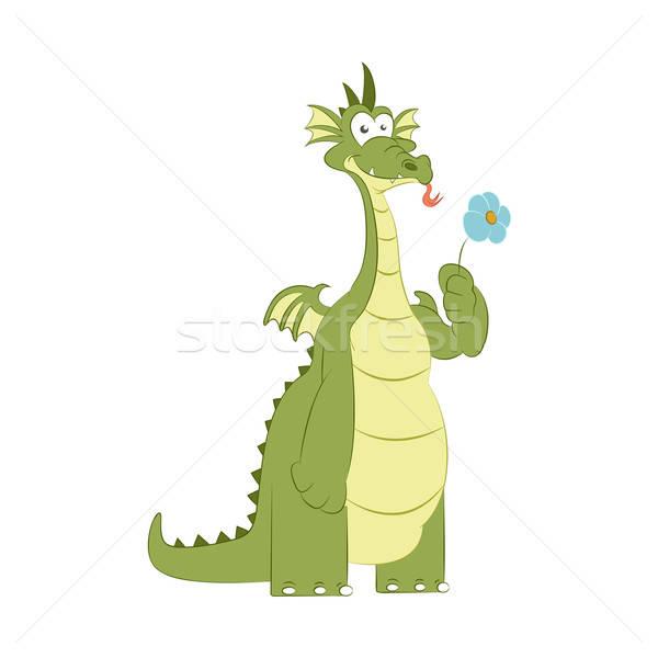 Сток-фото: хорошие · дракон · цветок · вектор · изображение · цветок · любви