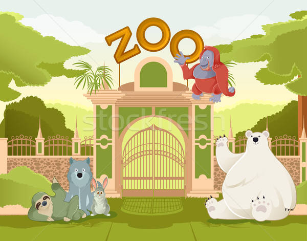 Welcome to Zoo Stock photo © Amplion