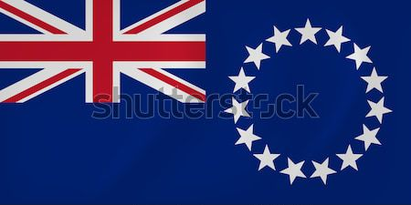 Cook Islands waving flag Stock photo © Amplion