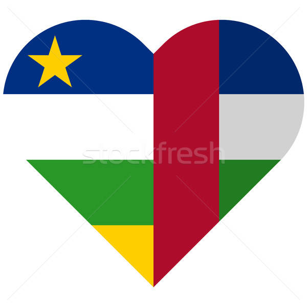 Central African Republic flat heart flag Stock photo © Amplion