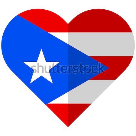 Cuba cuore bandiera vettore immagine design Foto d'archivio © Amplion
