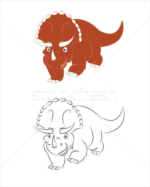 Сток-фото: вектора · изображение · смешные · Cartoon · динозавр · дизайна