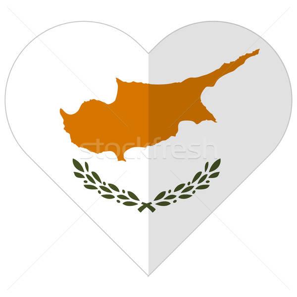 Cyprus flat heart flag Stock photo © Amplion