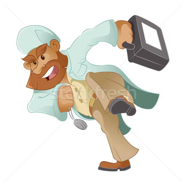 医師 ベクトル 画像 を実行して 漫画 医療 ストックフォト © Amplion