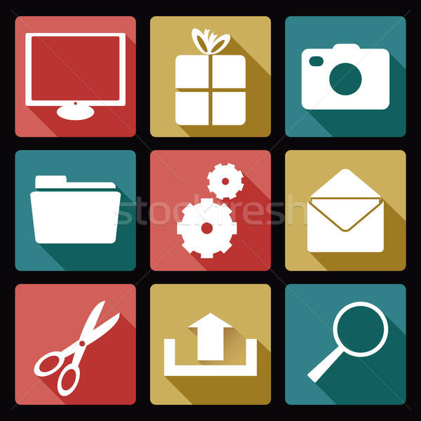 Computer icons Stock photo © Amplion