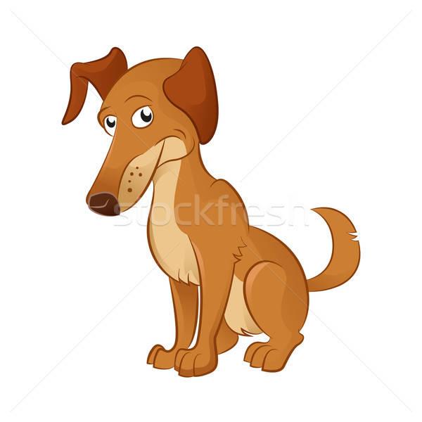 Cartoon собака вектора изображение коричневая собака ребенка Сток-фото © Amplion