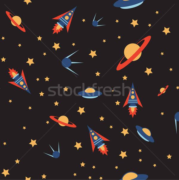 бесшовный пространстве цвета вектора изображение шаблон Сток-фото © Amplion