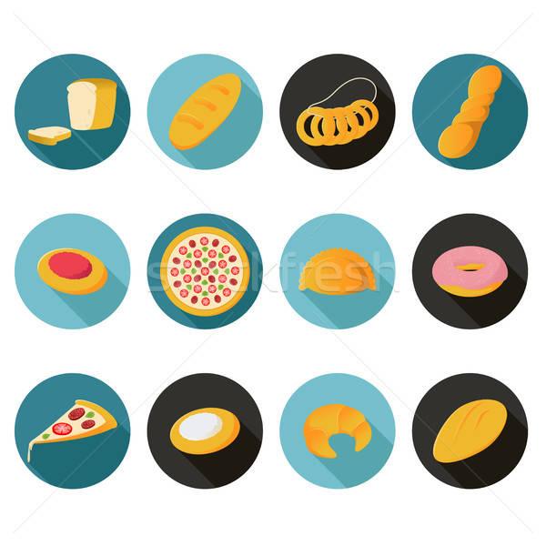コレクション パン アイコン ベクトル 画像 食品 ストックフォト © Amplion