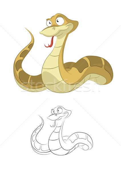 Stock photo: Cartoon Snake
