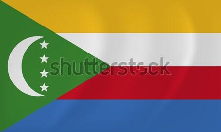 Коморские острова флаг вектора изображение Мир Сток-фото © Amplion