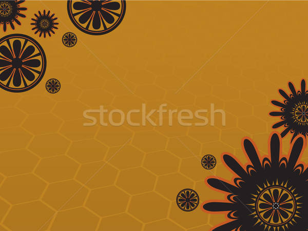 花 黄色の花 草 抽象的な 自然 葉 ストックフォト © Amplion