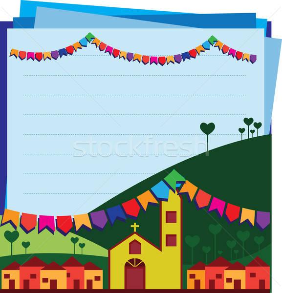 Strony Brazylia typowy festiwalu niebo Zdjęcia stock © anaklea