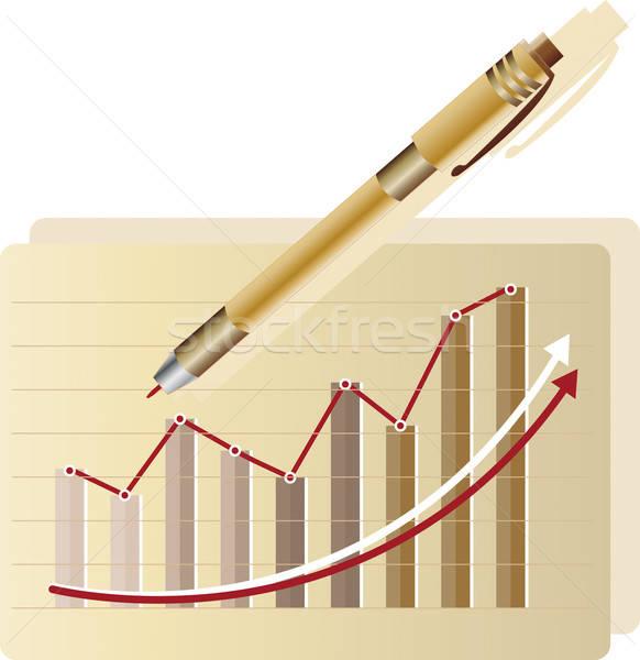 Statistisch grafiek groei business succes Stockfoto © anaklea