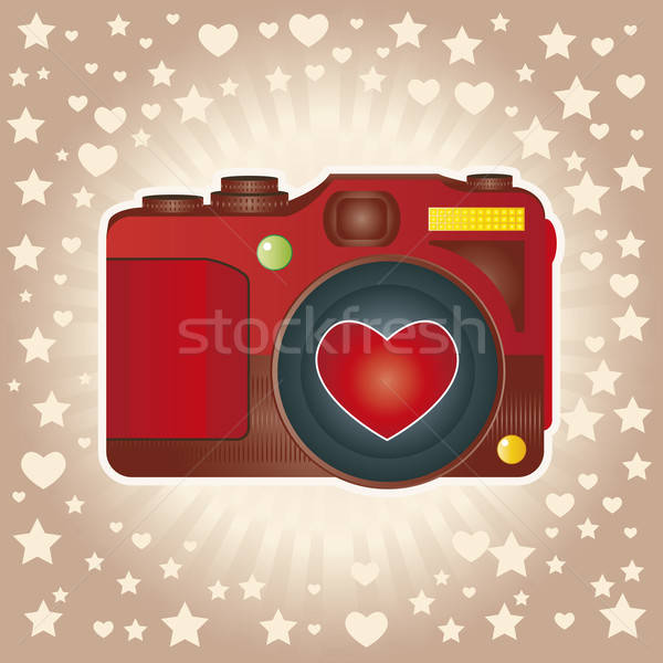 Rood camera werk star fotograaf Stockfoto © anaklea