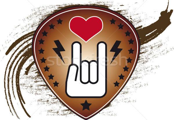 Rock rollen palet iconen Stockfoto © anaklea