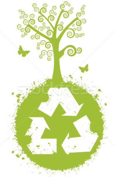 Recycleren beter natuur wereldbol symbool groot Stockfoto © anaklea