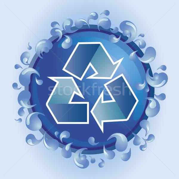 Recycleren water symbool recycling wereld aarde Stockfoto © anaklea