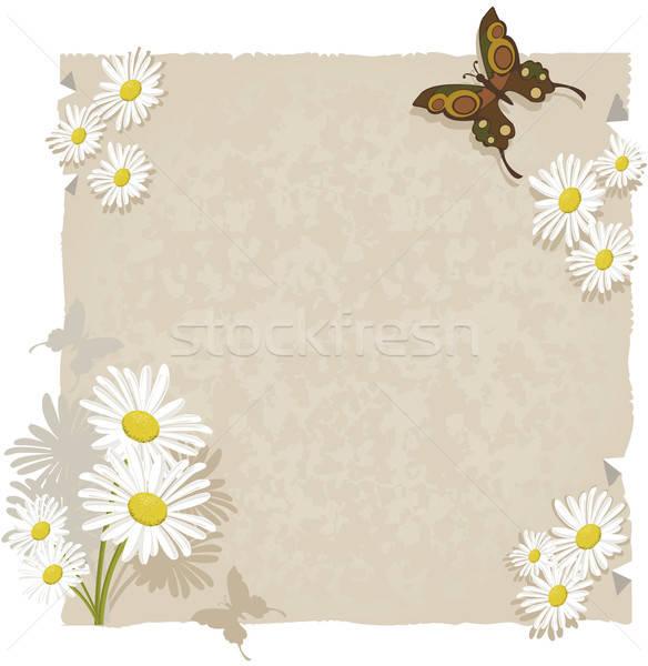 Papier madeliefjes vlinders daisy decoraties Stockfoto © anaklea