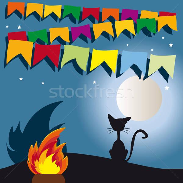 Partij Brazilië typisch festival maan Stockfoto © anaklea