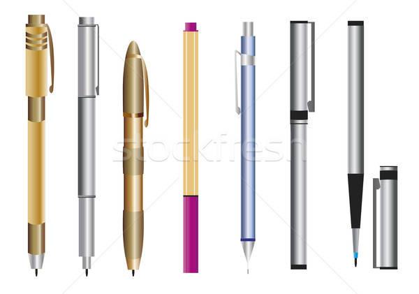 Pen ingesteld potlood Stockfoto © anaklea