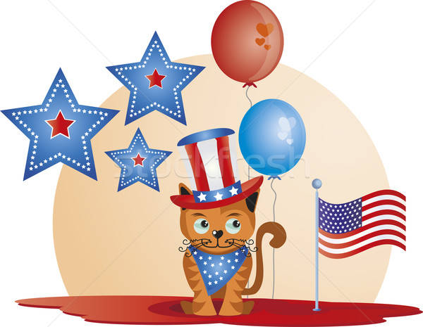 July 4th - Cat Stock photo © anaklea