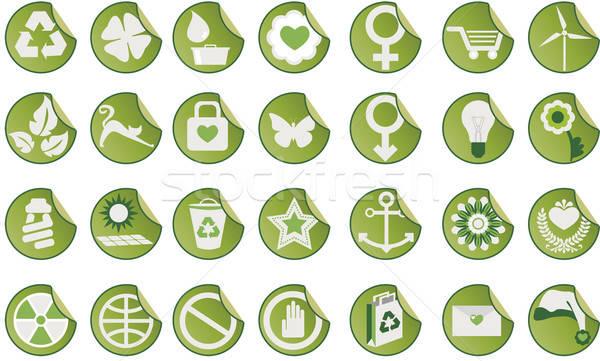 Ingesteld groene iconen verschillend Stockfoto © anaklea