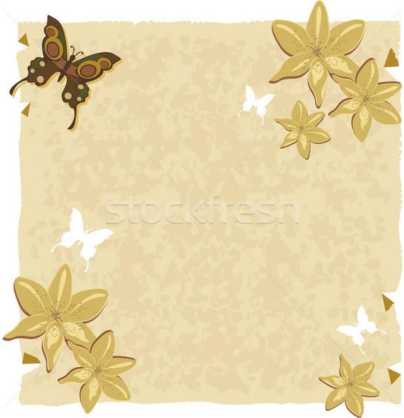 Papier lelie vlinders decoraties Stockfoto © anaklea