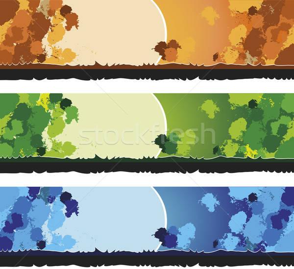 Banner banners gebruikt websites print textuur Stockfoto © anaklea