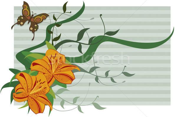 Papier lelies bladeren Stockfoto © anaklea