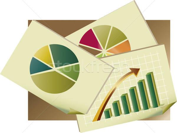 統計値 グラフ 論文 会社 成功 ストックフォト © anaklea