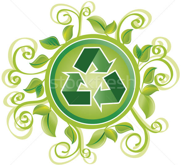 újrahasznosít zöld lomb kör szimbólum sok Stock fotó © anaklea