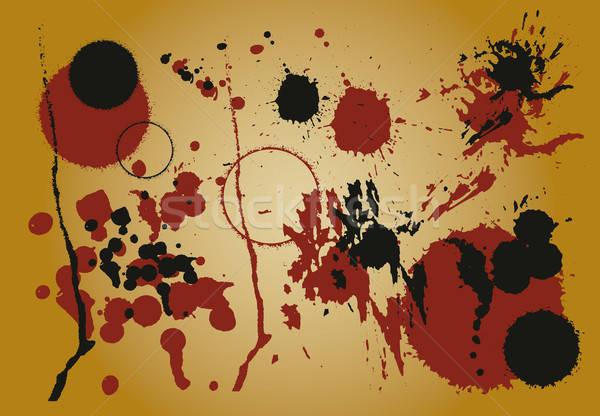 Grunge ingesteld vector gebruikt details Stockfoto © anaklea