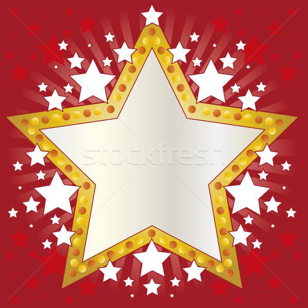 Frame sterren uitnodigingen decoraties achtergrond Stockfoto © anaklea