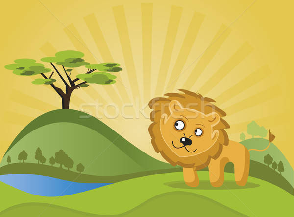 Lion in the forest. Stock photo © anaklea