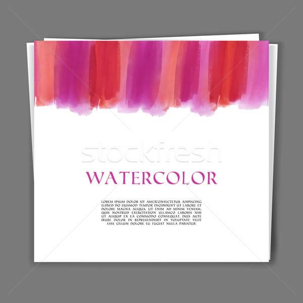 Kártya kéz festett vízfesték textúra papír Stock fotó © anastasiya_popov