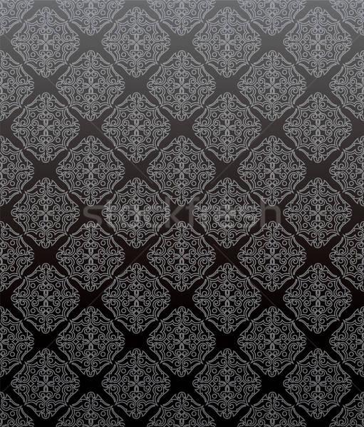 ダマスク織 パターン バラ 自然 美 壁紙 ストックフォト © anastasiya_popov