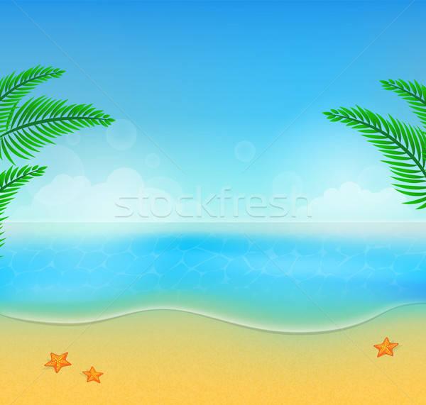 Nyár tengerpart boldog absztrakt fény háttér Stock fotó © anastasiya_popov
