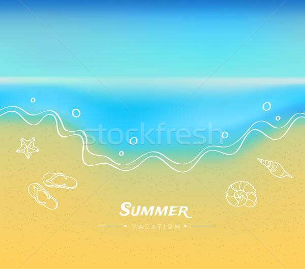 Summer background with sand and water Stock photo © anastasiya_popov