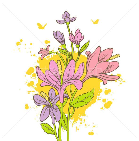 Acuarela floral eps 10 flor resumen Foto stock © anastasiya_popov