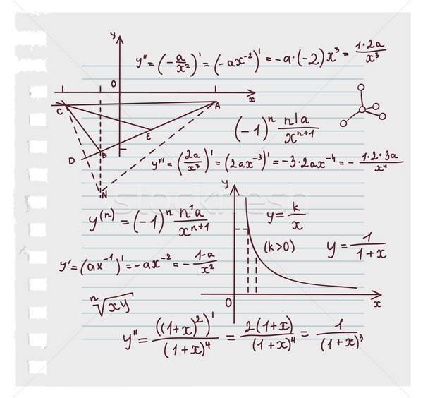 Algebra doodle scuola design istruzione college Foto d'archivio © anastasiya_popov