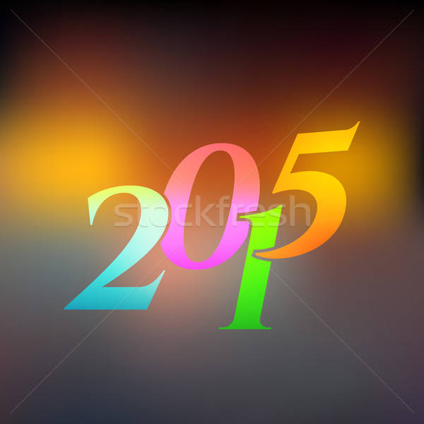 2015 on blured light  background Stock photo © anastasiya_popov
