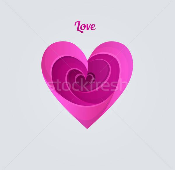 Stock photo: Happy Valentine's day, pink heart