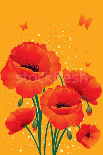 Foto stock: Vermelho · de · volta · flor · textura · natureza