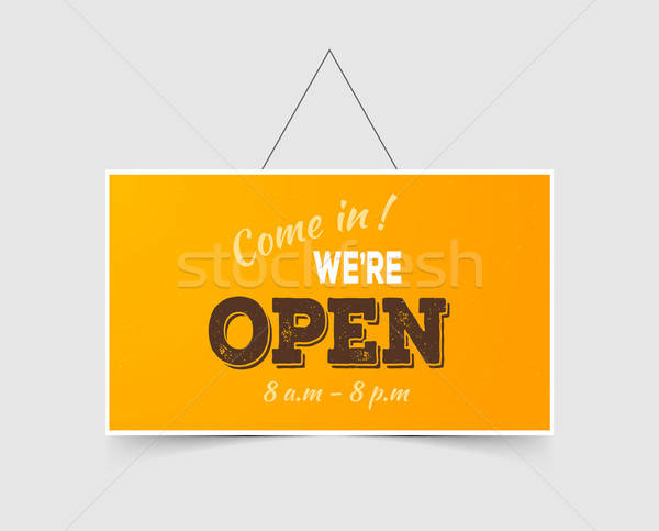 Stock photo: Come in We're open